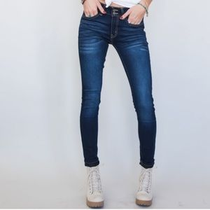 KANCAN NWT Skinny Double Button Semi Faded Jeans